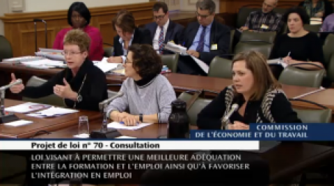 Loi 70: Passage remarqué en commission parlementaire